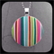 Circus Stripe: Large Bezel Set Pendant