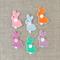 Bunny rabbit felt hair clip, purple, pink, blue, mint, orange, small gift