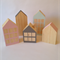 Little wooden houses. Set of 5.