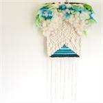 Hand woven wall hanging, tapestry, boho weaving - 'Aurora'