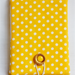 Covered Notepad - Yellow Polkadot