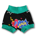 SIZE 0 Baby Pow Superhero Banded Shorties