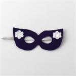 Girls Purple and White Super Hero Mask