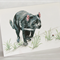 Tasmanian Devil greeting card Australian wildlife art, unique animal