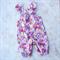 Pink floral vintie overalls sz 000-2