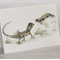Grassland Earless Dragon greeting card Australian wildlife art, reptile, lizard