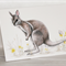 Bridled Nail-Tail Wallaby  greeting card Australian wildlife art