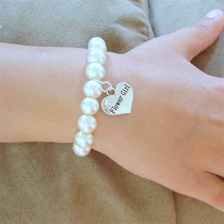 Flowergirl bracelet gift - Flowergirl charm bracelet, weddings, flowergirl gift
