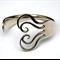 Silver Fork Bracelet - Heart Design - Handmade, Repurposed Vintage Fork