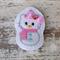 """2"""" Hello Kitty Snowman Hair Clip"""