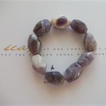 RAW ~ Natural Amethyst Beaded Bracelet