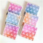 Watercolour Triangle Coasters - 6 Ceramic Tile Drink Coasters Summer Colours