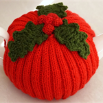 Christmas tea cosy - red with holly