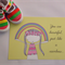 """You Are Beautiful, Just Like A Rainbow Illustration Print Yellow 8x10"""" / A4"""
