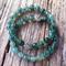 Emerald Green Jade Faceted Gemstone Bead Bracelet Set