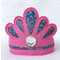 Felt Tiara Crown / Pink/ Peacock / Felt / Fabric