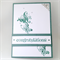 Congratulations Card - Gum leaf green, butterfly