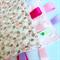 LITTLE TURTLES ~ PINK ~ Security Blanket Blankie Taggie Toy + Taggie Saver