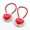 Button Hair Ties - red hearts