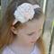 Peach Flower Headband, size 3 yrs - teen