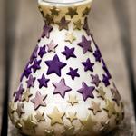 Purple stars vase