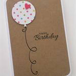 Handmade Card - personalised balloon birthday card