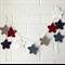 star garland | crochet bunting | boys nursery room decor | baby boy gift