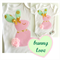 Easter Bunny Baby Girl Pink, Gold and Mint Onesie All Sizes and Styles Avail