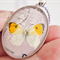 Vintage Butterfly Postage stamp pendant, 1966