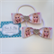 2 pack Barbie Hair Bow Elastic Hair Ties Birthday Party Choice of Ribbon style