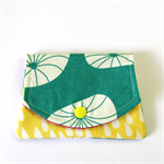 Find a Penny Purses - Jelly Blobs on sea green with raindrops