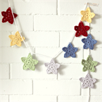 star garland | crochet bunting | boys nursery room decor | baby boy gift