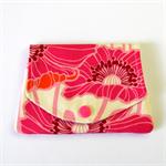 Find a Penny Purse - Hot Pink & Orange Big Blooms