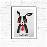 Custom Name Wall Decor - Mr Bunny