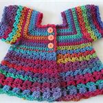 Crocheted Bella Rebekah Cardigan. Size 4-5