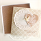 Personalised Wedding card doily gift box money, voucher, gift card, wishing well