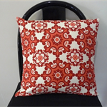 Cushion Cover Throw Cover - Red Moroccan tile  45cm 18 inches