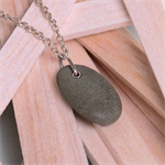 Pebble on a sterling silver chain necklace