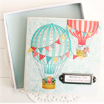 Wedding Card Hot Air Balloons gift boxed, wishing well