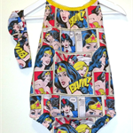 Darling Playsuit / Romper + Headband set in Wonder Woman