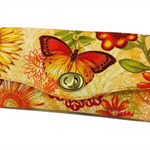 Necessary Clutch Purse/Wallet - Golden Butterflies