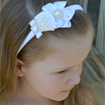 Girl's Headband - special occasion - white