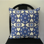 Cushion Cover Throw Cover - Blue Moroccan tile  45cm 18 inches