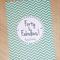 Forty & Fabulous! Female Happy Birthday card - green chevron