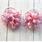 Piggy tail hair ties - Pink and Purple