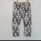 Organic cotton leggings, Black and white triangles. Size 000-1, unisex