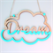 Cloud Dreamer Wall hanger- dip dye - Custom Made