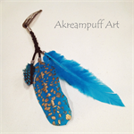 Hair Extension Clip - Blue Feather