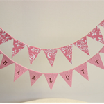 Cake Bunting/Cake Topper Double String Flags Personalised/name of choice.
