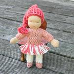 Gum Blossom - Miniature Waldorf Dollhouse Doll